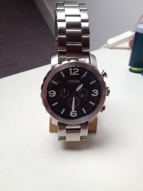 jewels massive watch fossil watch fashion watch silver watch
