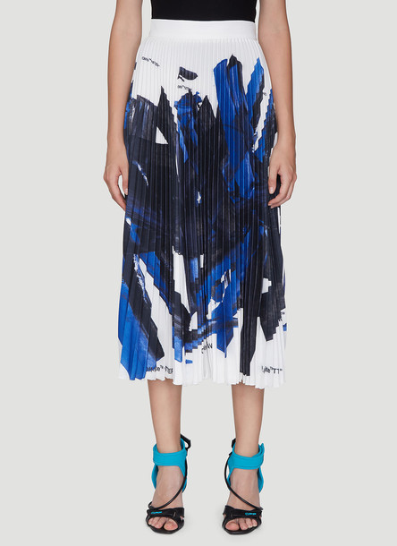 Off-White Pleated Skirt in Blue size IT - 38