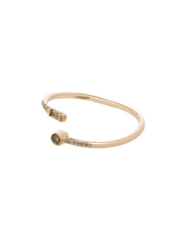 Xiao Wang 14kt gold Gravity Wrap diamond ring