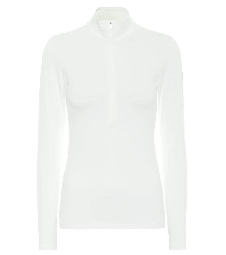 Fusalp Ski Gemini III high-neck zip-up sweater in white