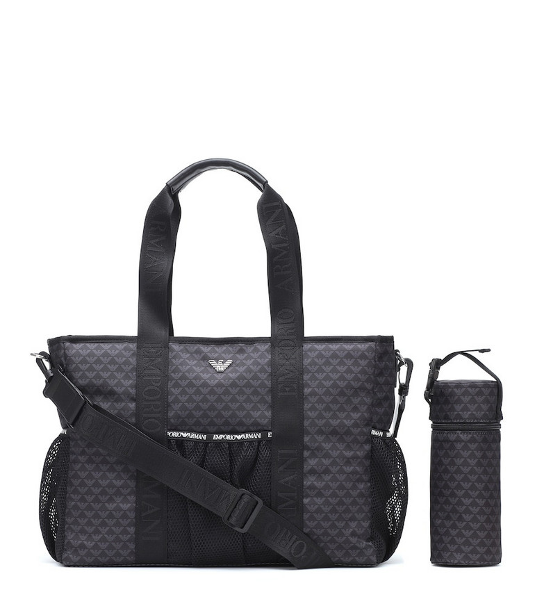 Emporio Armani Kids Changing bag and mat set in blue