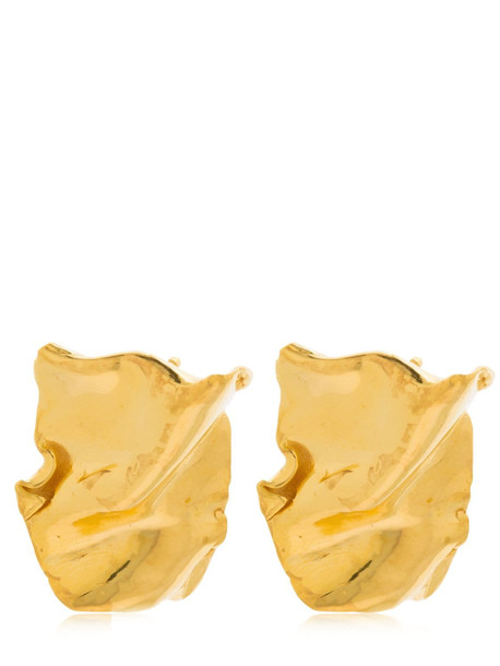 MISHO Flow Stud Earrings in gold