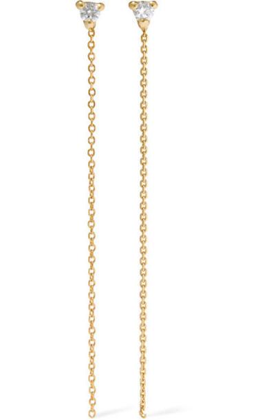 Wwake - 14-karat Gold Diamond Earrings