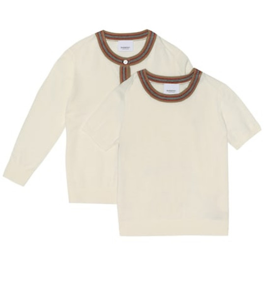 Burberry Kids Wool cardigan in white