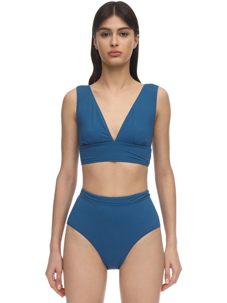 BONDI BORN Vicki Lycra Bikini Top in teal