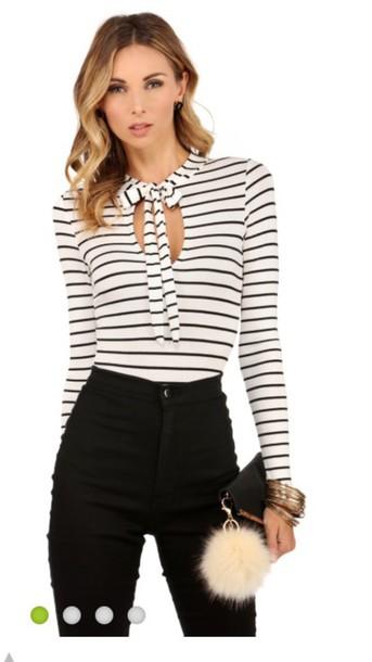 blouse top stripes bodysuit striped top jewels keychain fur keychain bag charm bag bug accessories Accessory fur