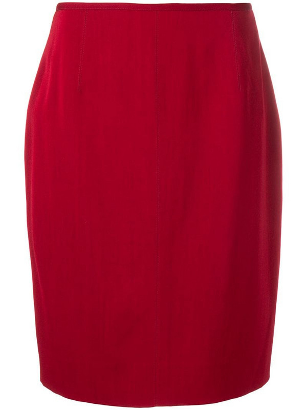 Jean Paul Gaultier Pre-Owned 1980's straight skirt in red