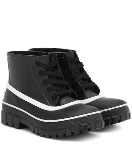 Givenchy Glaston lace-up rubber rain boots in black