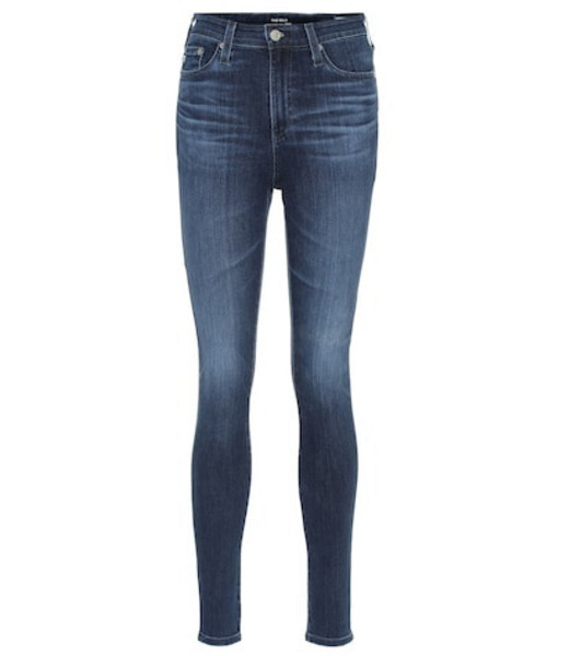 AG Jeans The Mila high-rise skinny jeans in blue