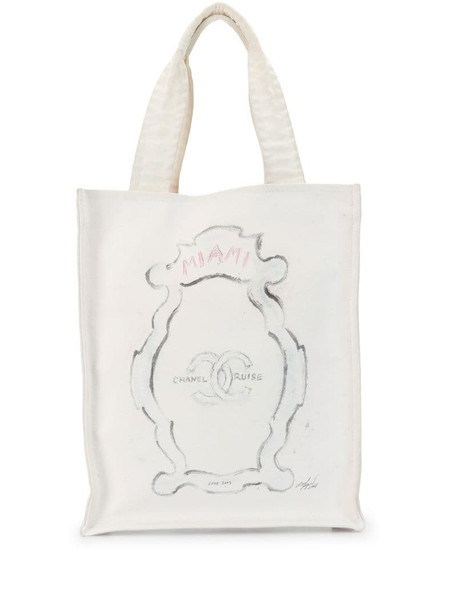 Chanel Pre-Owned 2008 Miami Cruise tote bag in white