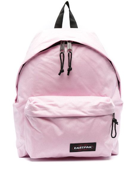 Eastpak logo-patch zip-up backpack in pink