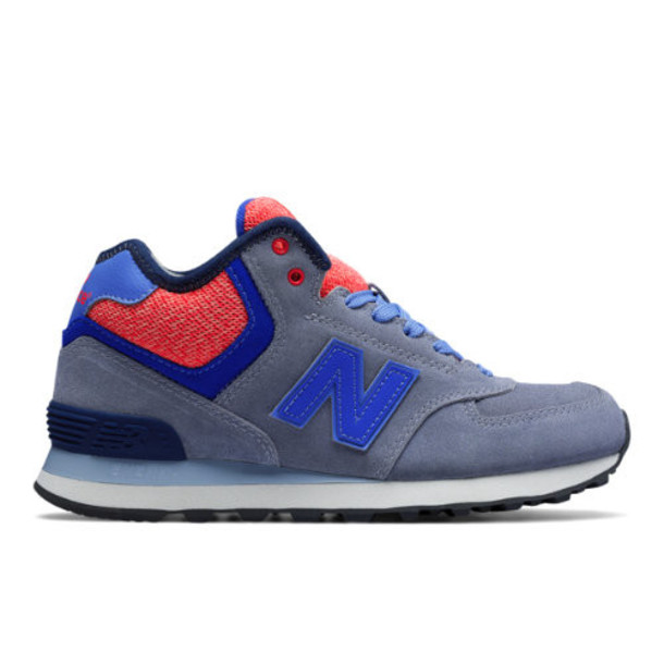 New Balance 574 Mid-Cut Women's 574 Shoes - Grey/Blue/Pink (WH574WC)