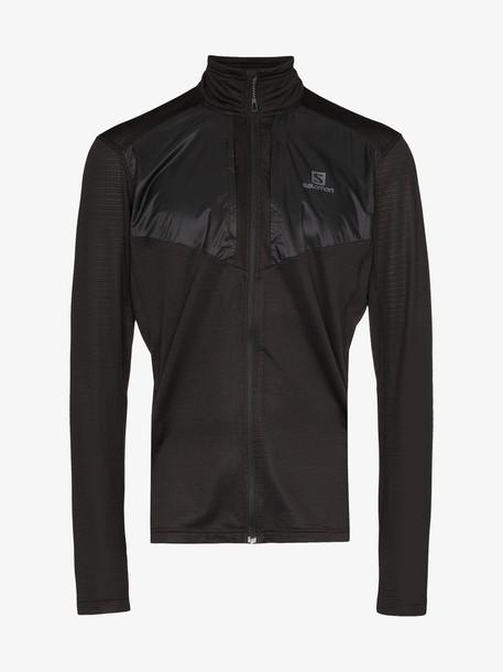 Salomon S/Lab black Grid Lightweight Zipped Jacket