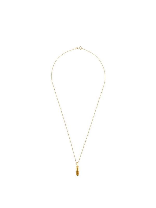 True Rocks Glitter Pill pendant necklace in gold