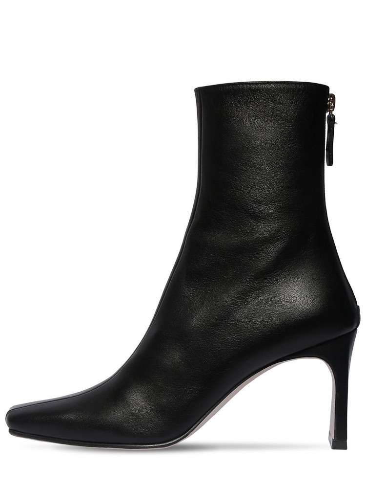 REIKE NEN 80mm Leather Ankle Boots in black