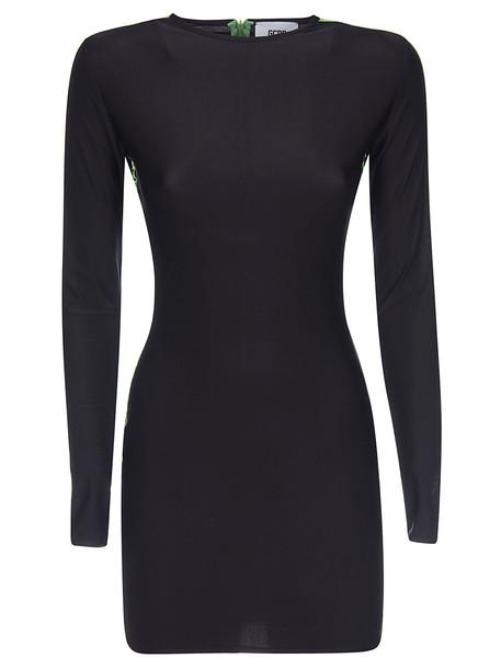 Gcds Logo Tape Dress in black