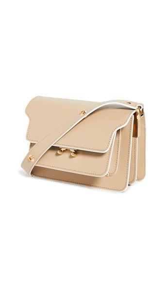 Marni Trunk Shoulder Bag in beige