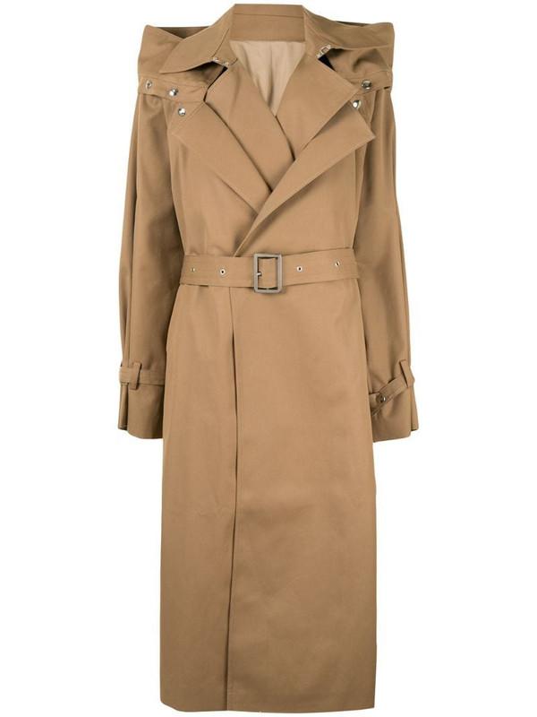 Boyarovskaya belted trench coat in brown