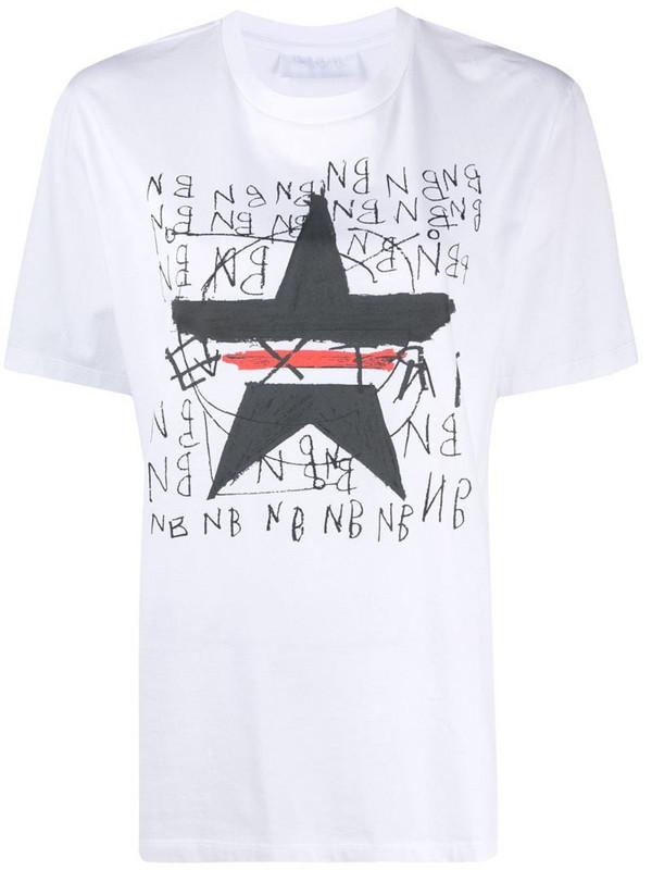Neil Barrett star-print T-shirt in white