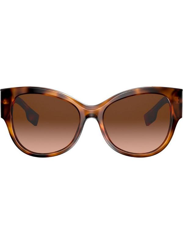 Burberry Eyewear oversized frame sunglasses in brown