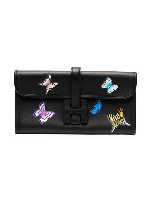 Hermès pre-owned Jige Elan clutch in black