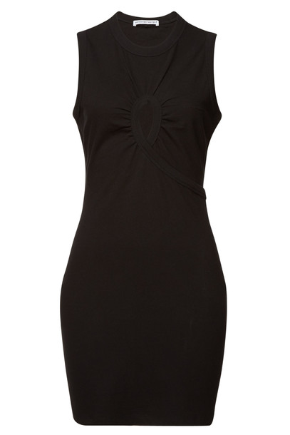 alexanderwang.t Cotton Dress with Cut-Out Detail  in black