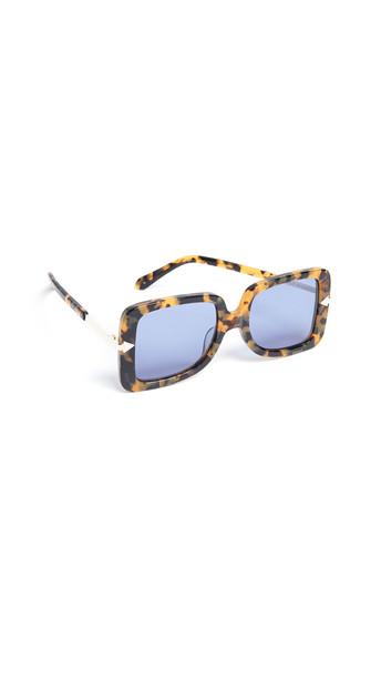 Karen Walker Alternative Fit Eden Sunglasses in blue