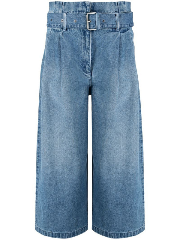 Michael Michael Kors cropped wide-leg jeans in blue