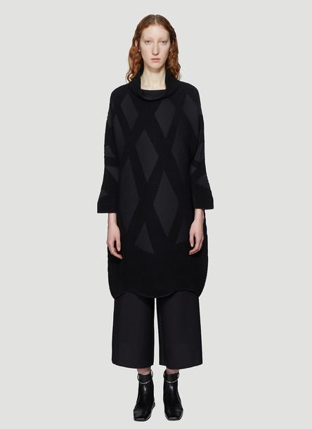 Issey Miyake Contrast Pattern Dress in Black size JPN - 2