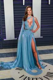 shoes,alessandra ambrosio,model,oscars,gown,prom dress,maxi dress,silver,celebrity style