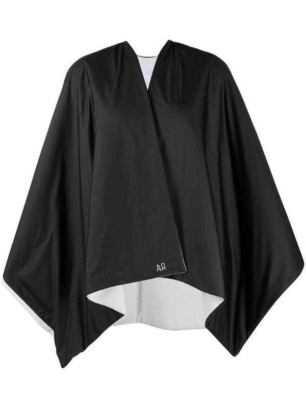 Antonella Rizza reversible two-tone cape in black