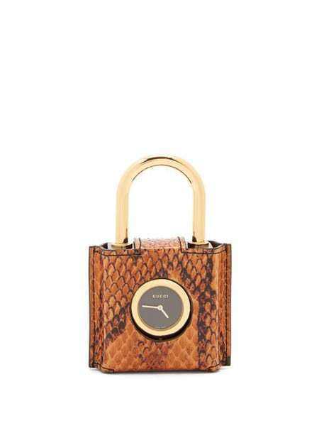 Gucci - Constance Engraved Plexiglas Padlock Watch - Womens - Black