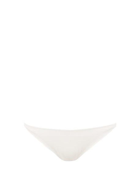 Solid & Striped - Nantucket Low Rise Ribbed Bikini Briefs - Womens - White