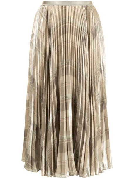 Polo Ralph Lauren checked pleated skirt in green