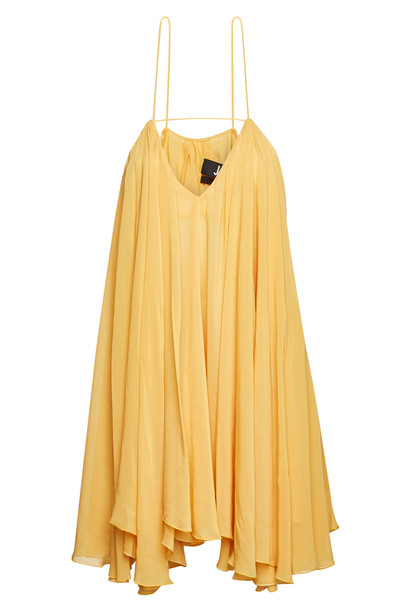 Jacquemus La Petite Robe Belleza Mini Dress  in orange