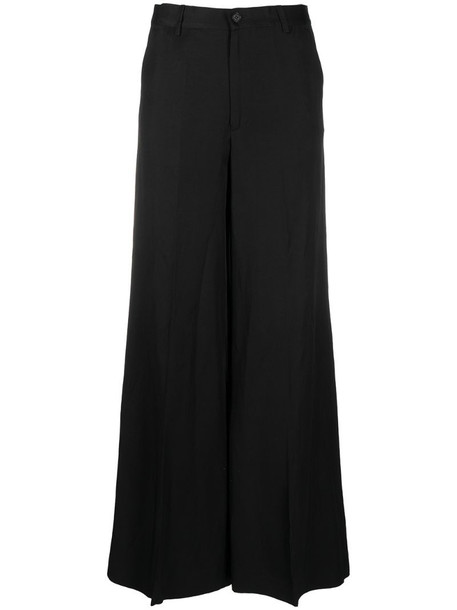 P.A.R.O.S.H. tailored wide-leg trousers in black