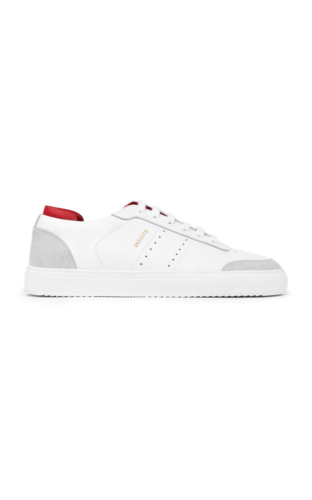 Axel Arigato Dunk Two-Tone Leather Sneakers in white