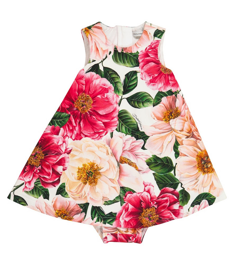 Dolce & Gabbana Kids Baby floral dress and pants set in pink