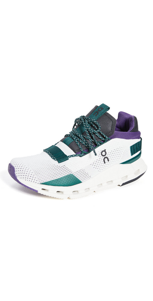 On Cloudnova Sneakers in violet / white