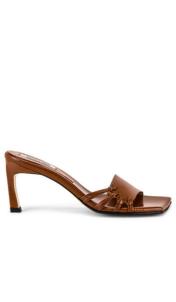 Reike Nen Side Knot Square Sandals in Cognac in brown