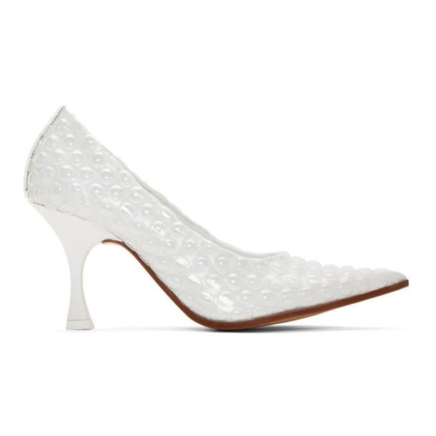 MM6 Maison Margiela White Bubble Wrap Heels