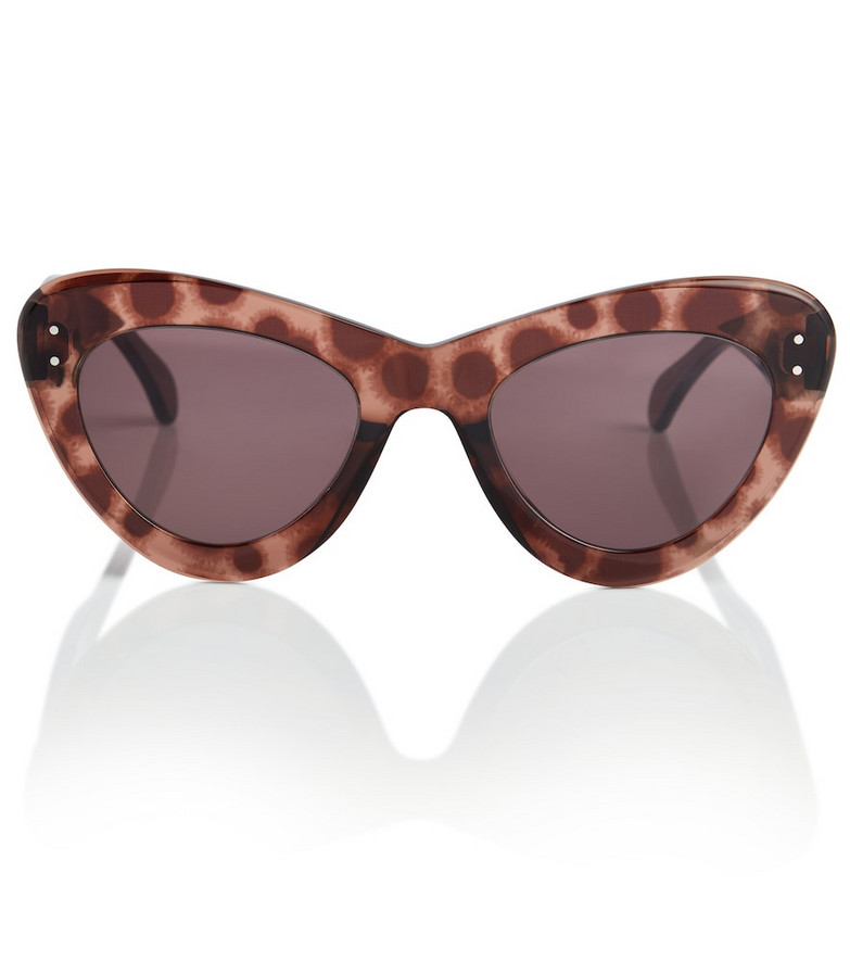 Alaïa Cat-eye acetate sunglasses in brown