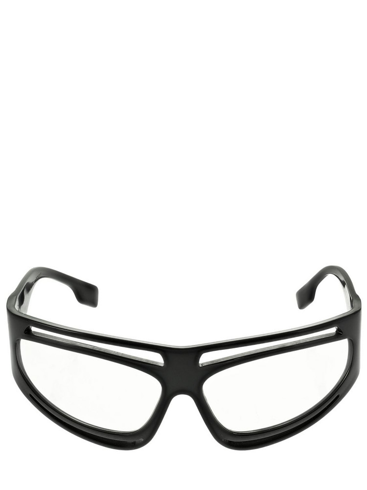 BURBERRY Double Frame Mask Acetate Sunglasses in black