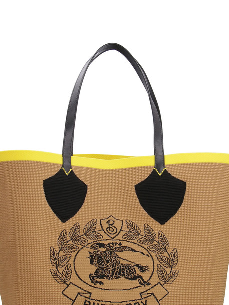 Burberry The Giant Knitted Tote Bag in beige