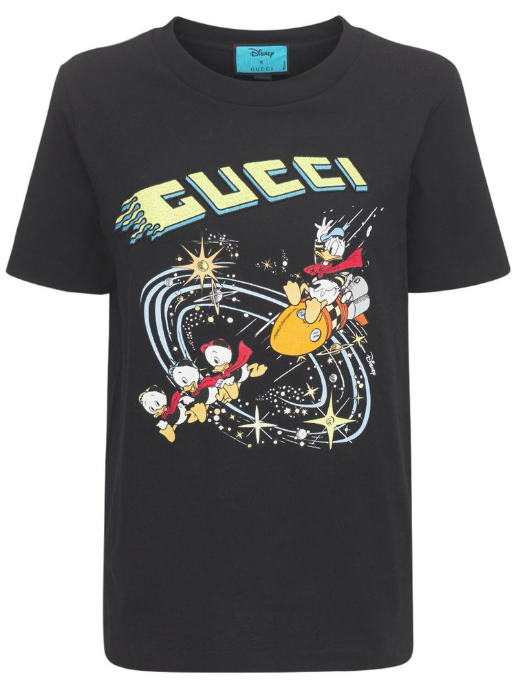 Disney X Gucci Cotton Jersey T-shirt in black