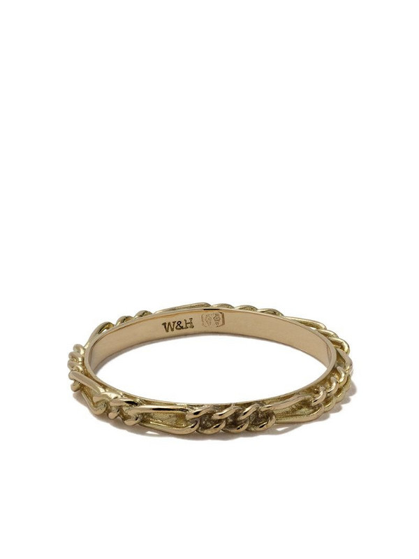 Wouters & Hendrix Gold 18kt yellow gold Figaro Chain ring