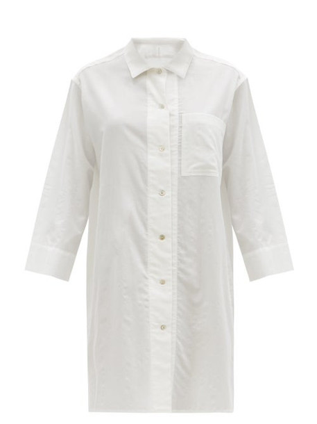 Rossell England - Patch-pocket Cotton Nightdress - Womens - White