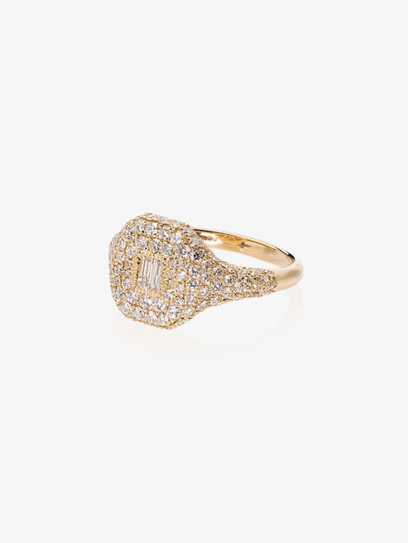 Shay 18K yellow gold and diamond Pave signet ring