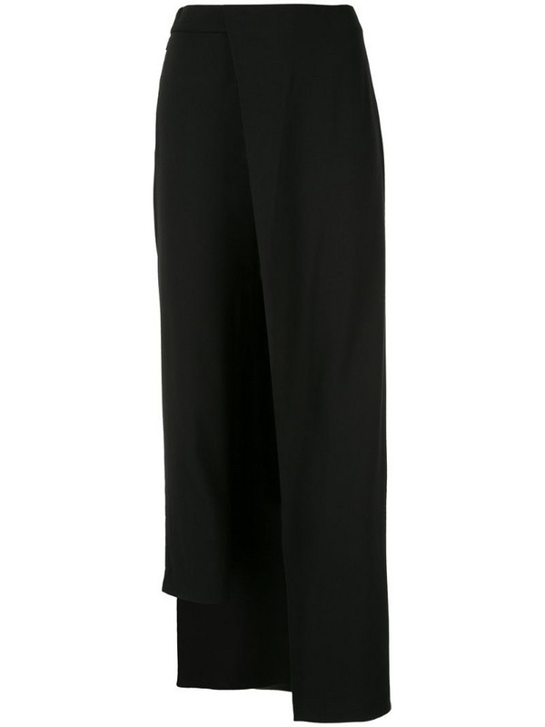 Hellessy fitted trousers with overskirt in black
