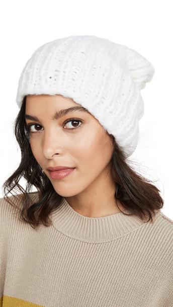 Eugenia Kim Cashmere Shannon Hat in white